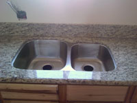 Santa Cecilia Granite with Stainless Steel Undermount Sink
